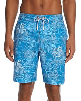 Johnnie-O - Saha Leaf-Print Swim Trunks