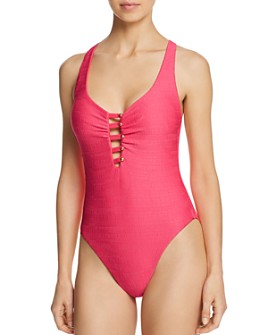 Nanette Lepore - Raffia Mermaid One Piece Swimsuit