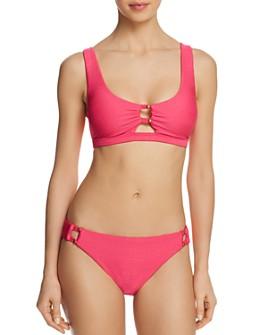 Nanette Lepore - Raffia Bralette Bikini Top & Raffia Hipster Bikini Bottom