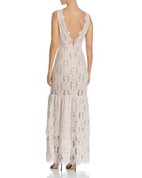 WAYF - Meander Tiered-Lace Gown
