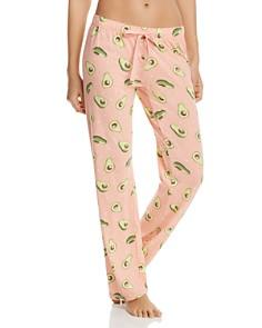 PJ Salvage - Avocado-Print Pajama Pants