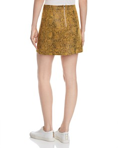 Honey Punch - Snake-Print Faux Suede Skirt