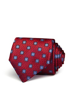 Canali - Textured Square Florette Classic Tie