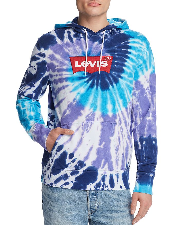 Levi's - Embroidered Logo Hooded Tie-Dyed Sweatshirt