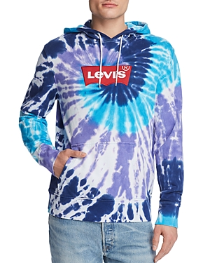 Levi's T-shirts EMBROIDERED LOGO HOODED TIE-DYED SWEATSHIRT