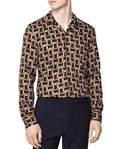 REISS - Totteri Abstract Rectangle Regular Fit Button-Down Shirt
