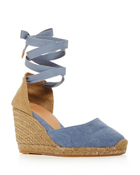 c411c4cd9c Castañer - Women's Carina Ankle-Tie Espadrille Wedge Sandals ...