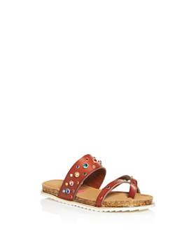 STEVE MADDEN - Girls' Sleuth Embellished Slide Sandals - Little Kid, Big Kid