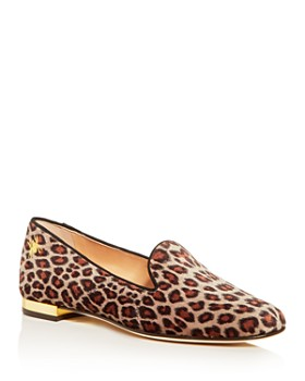 e04c5a861437 Charlotte Olympia - Women's Nocturnal Leopard-Print Smoking Slippers ...