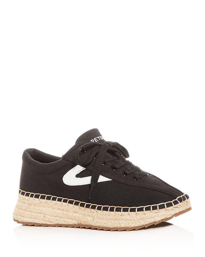 Tretorn - Women's Nave Low-Top Espadrille Platform Sneakers