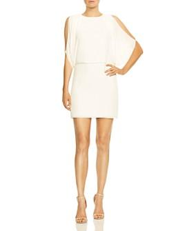 HALSTON - Cold-Shoulder Dress