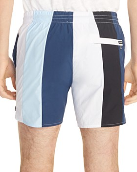 Sandro - Atlantic Striped Drawstring Swim Shorts