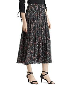 Ralph Lauren - Floral-Print Tiered Peasant Skirt