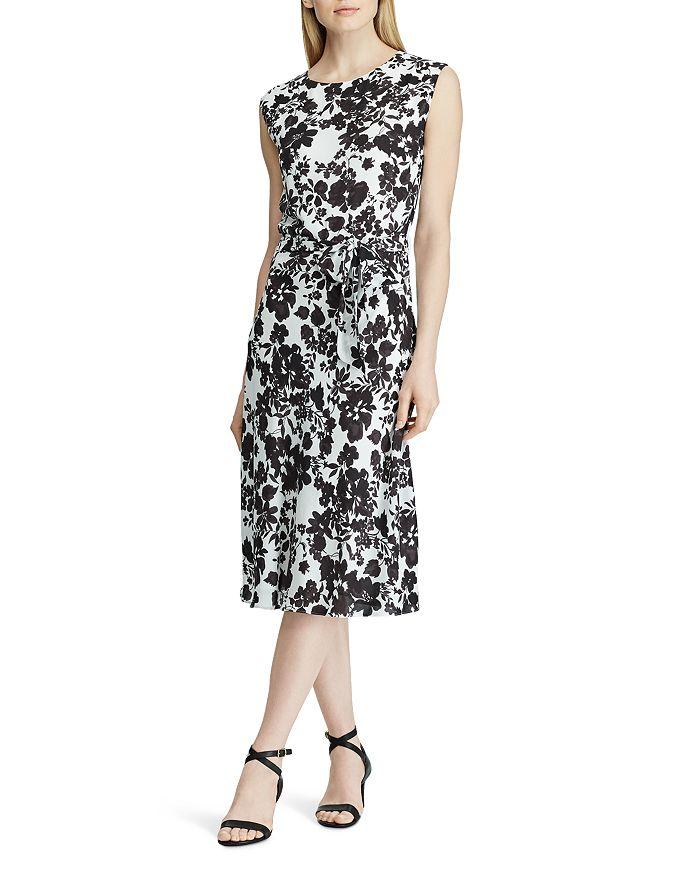 Ralph Lauren - Belted Floral-Print Dress