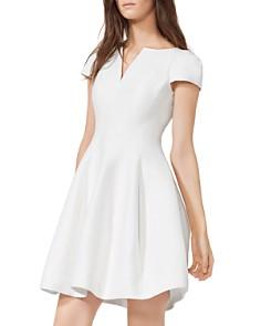 HALSTON HERITAGE - Notched Boatneck Dress