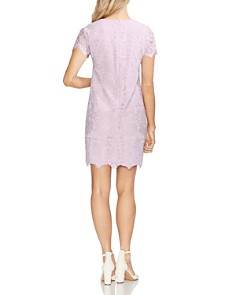 VINCE CAMUTO - Short-Sleeve Lace Shift Dress