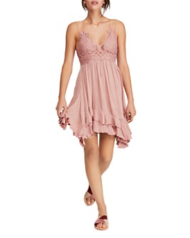 Free People - Adella Sleeveless Crochet-Trim Dress