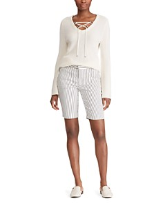 Ralph Lauren - Slim Pinstriped Bermuda Shorts