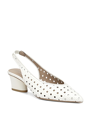 Donald Pliner Pumps WOMEN'S GEMA WOVEN LEATHER SLINGBACK PUMPS