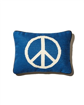 Aloha Zen - Peace Out Needlepoint Decorative Pillow