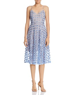 Aidan Mattox - Embellished Lace Dress
