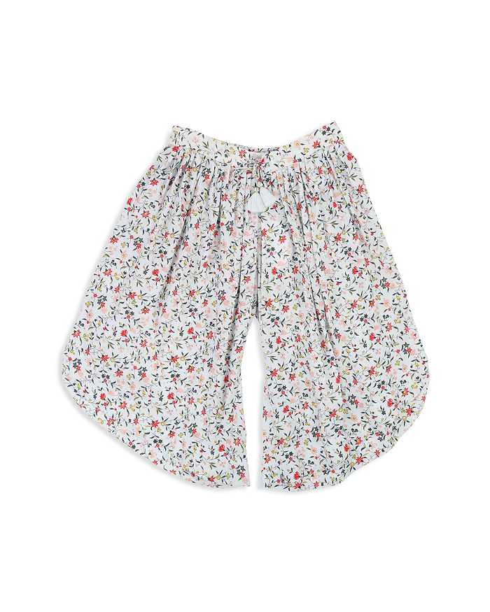 Chloé - Girls' Floral Print Wide-Leg Pants - Little Kid, Big Kid