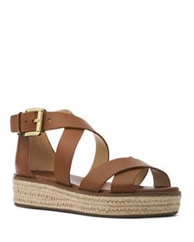 c3267159b16 MICHAEL Michael Kors - Women s Darby Leather Espadrille Sandals ...