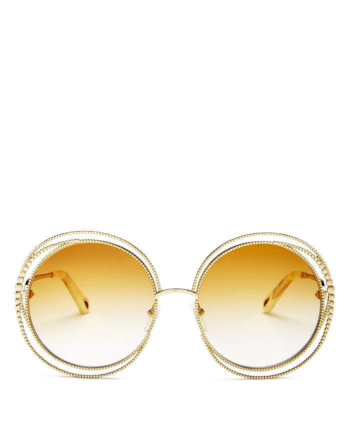 231f26540 Chloé Women's Carlina Oversized Round Sunglasses, 58mm | Bloomingdale's
