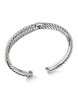 David Yurman - Sterling Silver Cable Loop Bracelet with Diamonds
