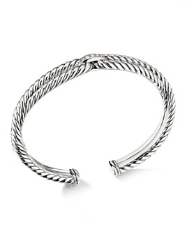 David Yurman - Sterling Silver Cable Loop Bracelet with Diamonds