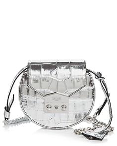 Salar - Carol Embossed Metallic Leather Shoulder Bag
