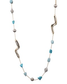 Alexis Bittar - Multi-Stone Station Necklace, 42""