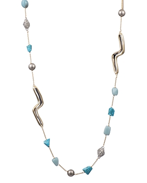 Alexis Bittar Accessories MULTI-STONE STATION NECKLACE, 42