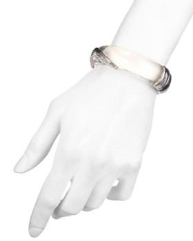 Alexis Bittar - Clear Hinge Bangle Bracelet