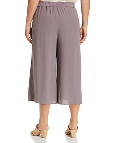 Eileen Fisher Plus - Wide-Leg Silk Culottes