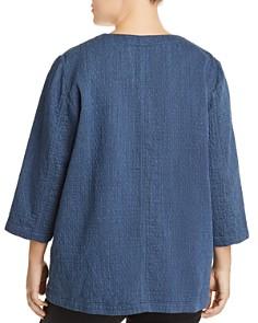 Eileen Fisher Plus - Chambray Open Jacket