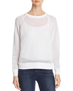 Eileen Fisher Knitwear OPEN-KNIT RAGLAN SWEATER