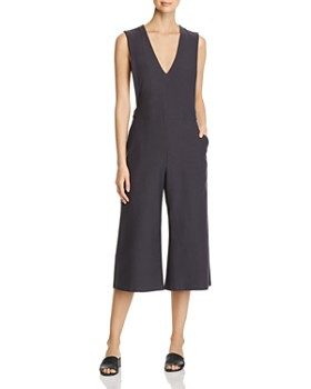 c7a9f529095 Eileen Fisher - V-Neck Cropped Jumpsuit - 100% Exclusive ...