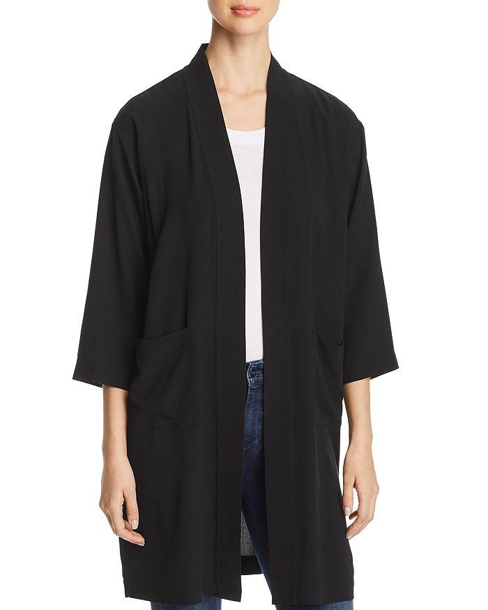 Eileen Fisher Petites - Silk Long Open Jacket