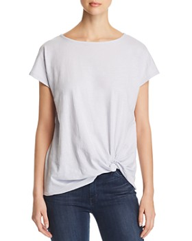 Eileen Fisher Petites - Organic Cotton Twist-Front Tee