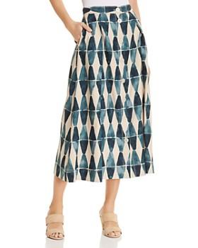 Lafayette 148 New York - Orly Geo-Print A-Line Midi Skirt