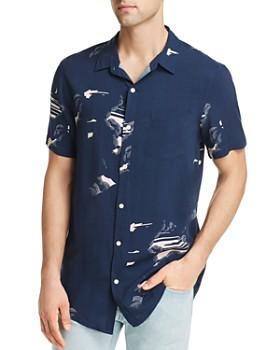 Zee Gee Why Denim - Short-Sleeve Night Sky-Print Party Slim Fit Shirt