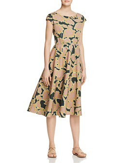Weekend Max Mara - Saloon Printed Cotton Midi Dress