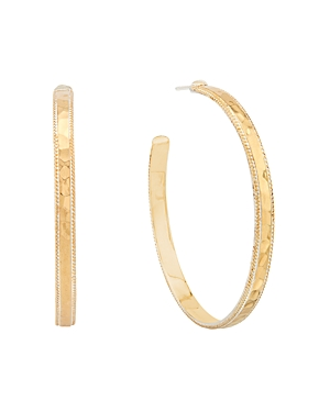 Anna Beck LARGE HAMMERED HOOP EARRINGS IN 18K GOLD-PLATED STERLING SILVER OR STERLING SILVER