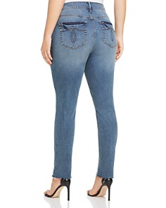 Seven7 Jeans Plus - High Rise Tower Distressed Skinny Jeans in Garden Wash