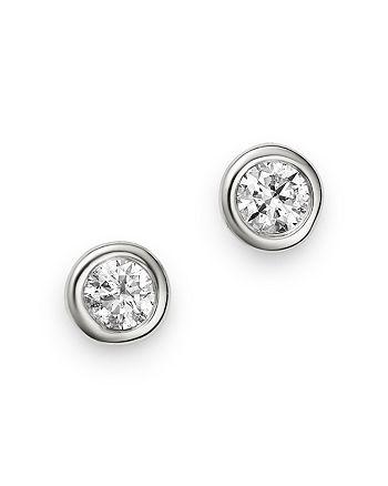 Bloomingdale's - Diamond Bezel Set Stud Earrings in 14K White Gold, 0.20 ct. t.w. - 100% Exclusive
