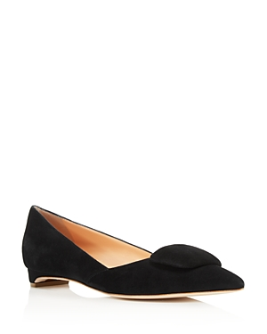 Rupert Sanderson WOMEN'S SUEDE POINTED TOE FLATS
