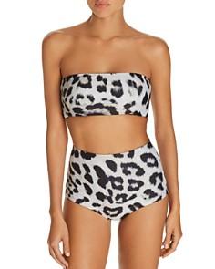 MIKOH - Java Bandeau Bikini Top & Menehune High-Waist Bikini Bottom