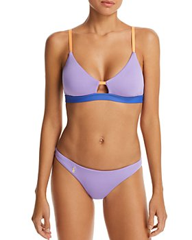 Polo Ralph Lauren - Modern Solids Cutout Racerback Bikini Top & Modern Solids Devin Hipster Bikini Bottom