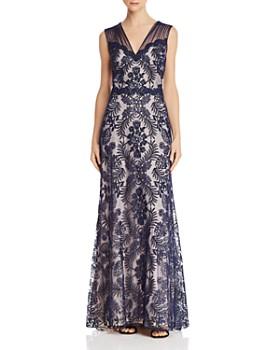 911658406768 Tadashi Shoji - Embroidered Lace Gown ...